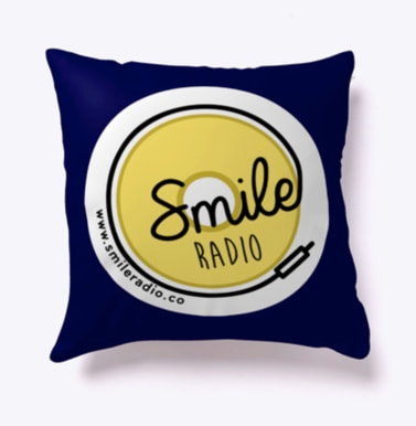 Smile Radio Indoor Pillow